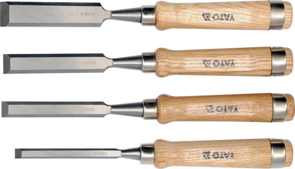 Picture of CHISEL SET 10-16-20-25MM WITH WOODEN HANDLE