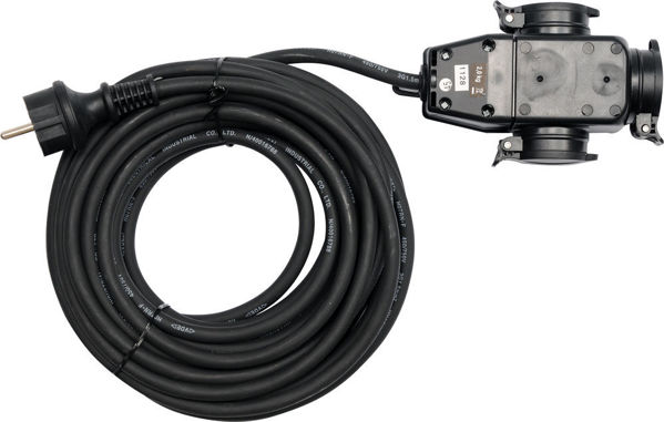 Picture of 3WAY EXT.CORD IN RUBBER PROTECT. 10M